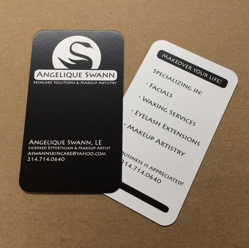 Angelique Swann Skincare Beauty Solutions Business Cards