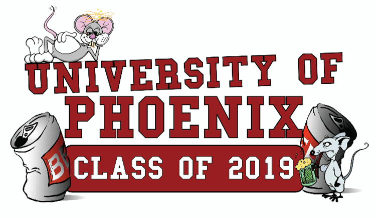 Universty of Phoenix Drunk Mouse