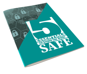 5 Essentials For Keeping Your WordPress Website Safe E-book cover side view
