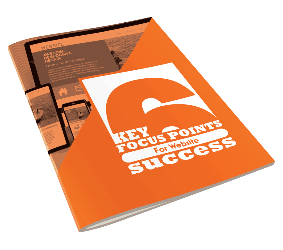 6 Key Focus Points For Website Success Ebook cover side view