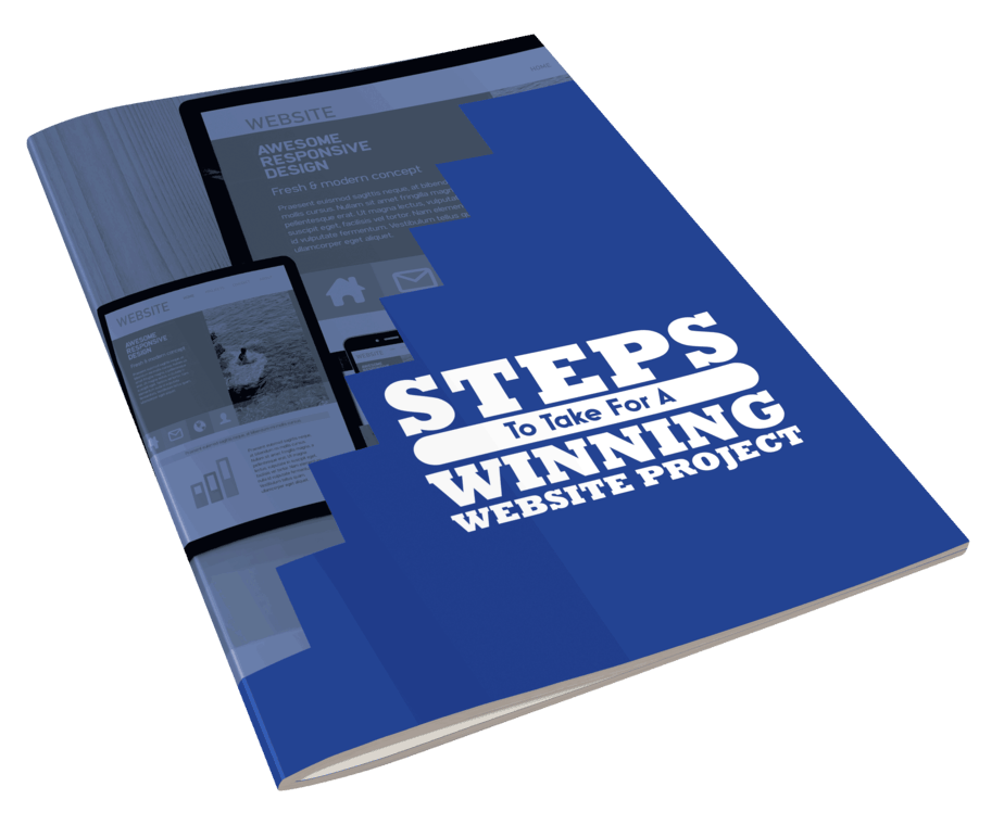 5 Steps To A Winning Website Project E-book cover side view