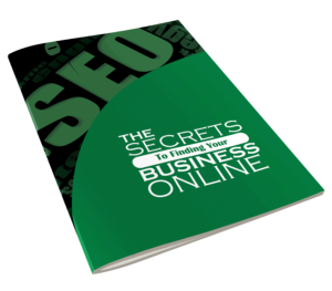 5 Secrets To Getting Your Website Found Online ebook side view.