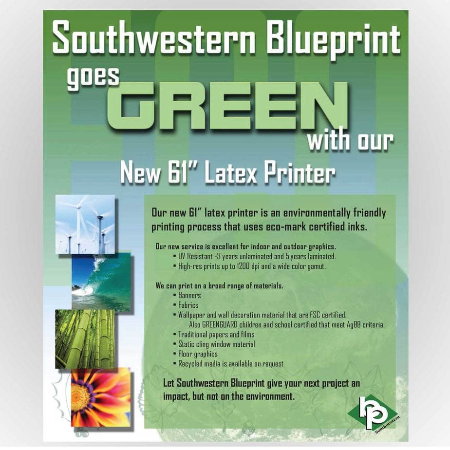 Southwestern Blueprint Goes Green